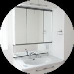 【WEB内覧会26】シンプルな洗面脱衣室(1/4)〜収納たっぷりの洗面台。