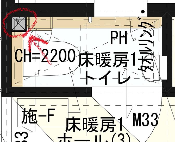 一階トイレ図面2