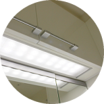 【WEB内覧会27】シンプルな洗面脱衣室(2/4)〜天井&洗面台の照明