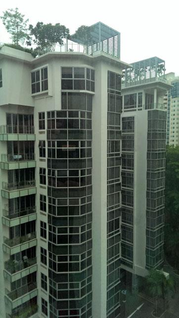 シンガポールの高層マンション