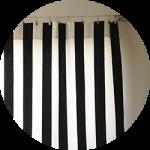 IKEAの生地で書斎のカーテンをDIY(後編)〜ちょっと縫い方にこだわってみる。作り方図解もあり。