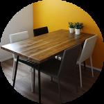 【WEB内覧会05】ダイニングのテーブル&椅子〜アンティーク調×モダンミックス(後編)
