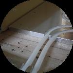 床暖房の配管が浮いている!!