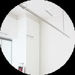 【WEB内覧会28】シンプルな洗面脱衣室(3/4)〜洗濯関連。脱衣収納。ホスクリーン。洗濯機。
