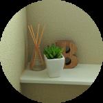 【WEB内覧会14】カラークロスのシンプルモダンなトイレ2階(後編)〜設備とインテリア小物