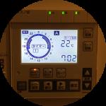 一条工務店(長府製)床暖房の設定温度。今年で4シーズン目の我が家は、この温度&タイマーで快適お得に過ごしています。